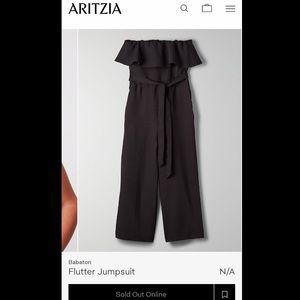 Aritzia Flutter Jumpsuit (black)